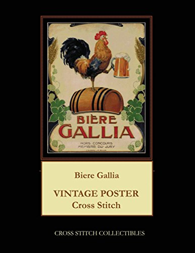 Biere Gallia: Vintage Poster Cross Stitch Pattern