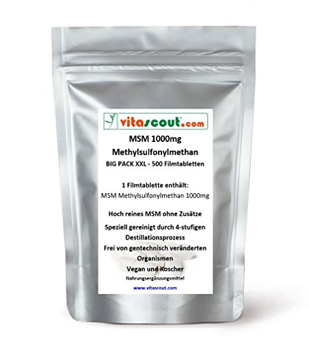 MSM - 1000mg - 500 Tabletten vegan - PN: 01050352