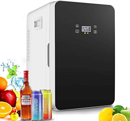 20L Mini Freezer, Fridge, Large Capacity Compact Cooler and Warmer with Digital Thermostat Display, Single Door Mini Fridge Freezer for Cars, Road Trips, Homes, Offices (2)