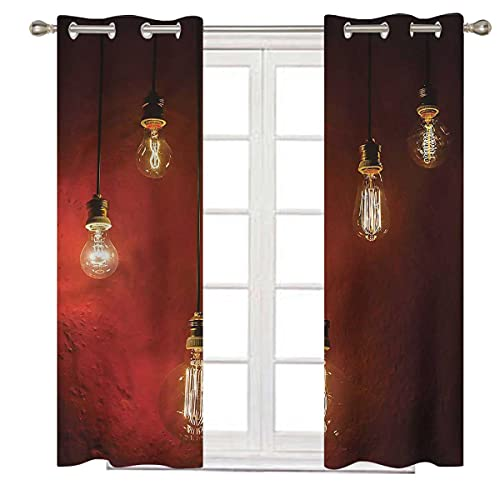 Industrial Noise Cancelling Curtains 108 Inch Long Urban Life Technology Kids Bedroom Blackout Grommet Top Curtain Panels W72 x H108