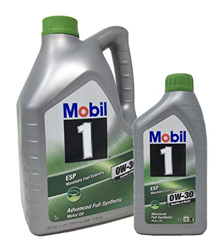 Aceite para motor Mobil 1 ESP 0W-30 Advance Fully Synthetic, Pack 6 Litros