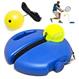 Tennis Rebounder Tennis Trainer Kit - 1 Tennis Rebounder with 2 Rope Strings 1 Tennis Ball 1 Foam Ball Self Practice Tennis Training Equipment for Sport Exercise Solo Tennis for Beginners Kids
