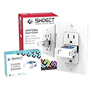 Swidget Smart In-Wall Outlet with Z-Wave, Control Smart Plug with Smart Phone & Monitor Energy (works with SmartThings, Vera, Wink, etc.) Z-Wave Plug, Z-Wave Outlet