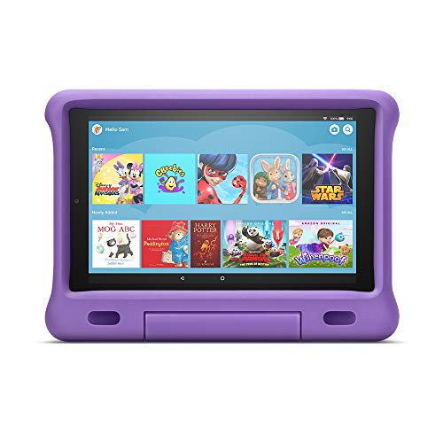 Fire HD 10 Kids Edition Tablet | 10.1' 1080p Full HD Display, 32 GB, Purple Kid-Proof Case