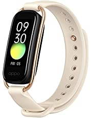 """OPPO Smart Band Style (Vanilla) - Continuous SPO2 Monitoring, 1.1"""" AMOLED Display and 12 Workout Modes, Sports and Style Straps Included (Currently only Supports Android)"""