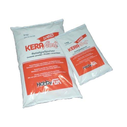 KERAflott Reliefgießpulver weiß 1 kg Sack weiß geruchlos