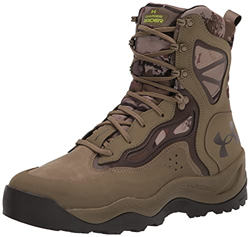 Under Armour Men's Charged Raider WP Hiking Boot, Ridge Reaper Camo Barren (900)/Bayou, 11.5