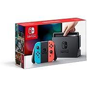 Nintendo Console Switch avec Joy-Con, Rouge Neón/Bleu Neón
