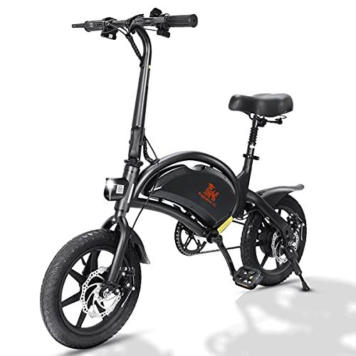 Bicicleta eléctrica Plegable, E Bike Motor de 400W hasta 45 Km/h, Batería de 48v 7.5Ah, 14' Neumáticos, 3 Modos, Autonomía de 25-45 Km Bici Electrica con Pedales para Adultos - V 1