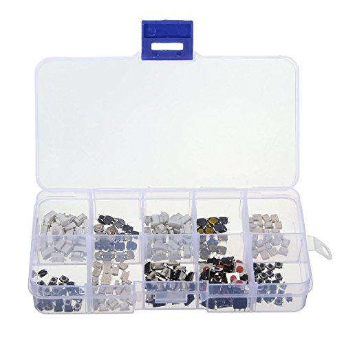 250 piezas 10 tipos de microinterruptor pulsador táctil interruptor táctil teclas remotas