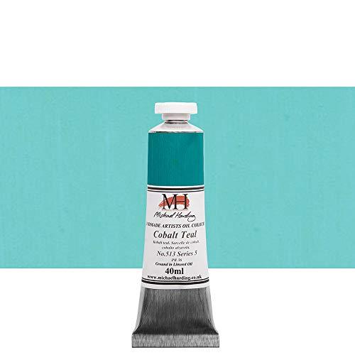 Michael Harding Artist Oil Colours, Cobalt Teal, 40ml Tube, 51340
