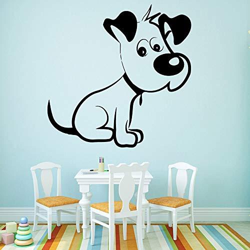BailongXiao Moda Perro extraíble Arte Vinilo Pared Pegatina decoración de la Pared Sala de Estar decoración del hogar Papel Tapiz 45x45 cm