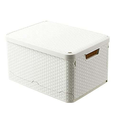 YAN QING SHOP Caja de Almacenamiento Plegable Plástico, organización de Armario y Almacenamiento, contenedores de Almacenamiento de Tejido de imitación para Ropa