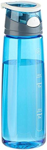 PEARL sports Trinkflasche BPA frei: BPA-freie Kunststoff-Trinkflasche mit Einhand-Verschluss, 700 ml, blau (Tritan-Trinkflasche)