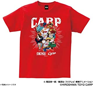 Space Age 広島カープ グッズ ワンピース×カープ Tシャツ (麦わらの一味) (レッド)