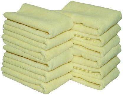 Yellow All Purpose Microfiber Towel (12)