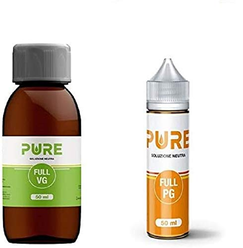 Kit Base Neutra PURE 100 ml | 50VG 50PG Glicerina Vegetale (VG) + Glicole Propilenico (PG)