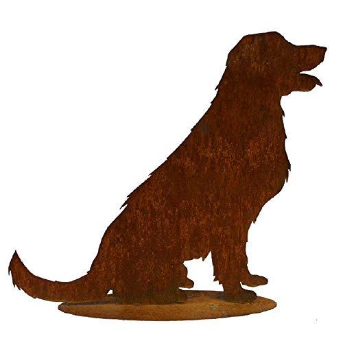 EQT-TEC Gartendekoration Edelrost Hund 60,5cm Rostdeko Garten Dekoration Draußen Rostfigur