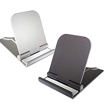 Cell Phone Stand 2Pack Cellphone Holder for Desk Small Phone Stand for Travel Lightweight Portable Foldable Tablet Stands Desktop Dock Cradle for iPhone Android Smartphone Office Supplies