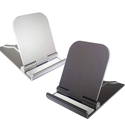 Cell Phone Stand, 2Pack Cellphone Holder for Desk Small Phone Stand for Travel Lightweight Portable Foldable Tablet Stands Desktop Stands for Android Smartphone Office Supplies