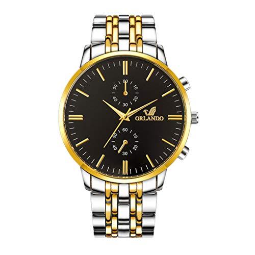 Cooki Herren-Armbanduhr, modisch, Business-Armbanduhr, analog, Quarzuhr, Digital-Zifferblatt, Mesh-Armband, Uhren für Herren Large 31#