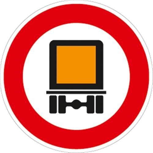 Verkeersteken VZ261, verbod voor kenteken, aluminium, RA2, Ø 42 cm verkeersbord