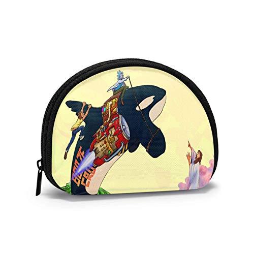 Bolsa de almacenamiento divertida para mujeres y niñas con cremallera, bolsa de cambio multifunción