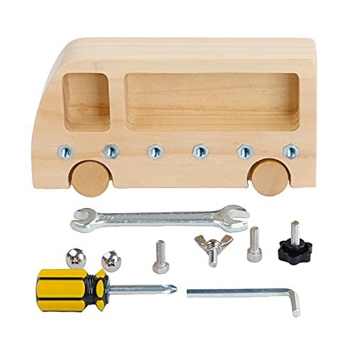 SM SunniMix Montessori Holz Schraubbrett Kindergarten Lehrhilfen pädagogisches Spielzeug Klassenzimmer Holzspielzeug für ab 3 Jahre Kinder