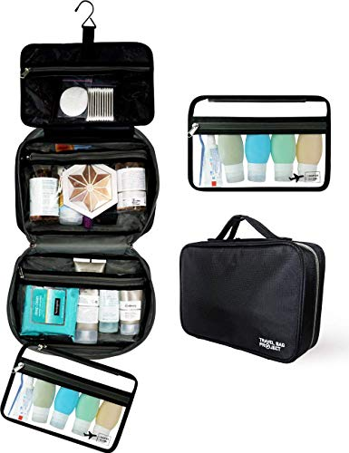 Hanging Toiletry Bag For Women and Men, Use As A Makeup Bag Organizer Or Travel Bag - Includes TSA Approved Detachable Cosmetic Kit And Large Waterproof Compartments For Full Sized Toiletries