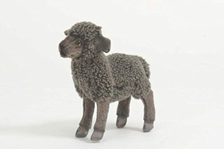 Plush Soft giocattolo nero Lamb by Hansa. 17cm. 4561 by Hansa