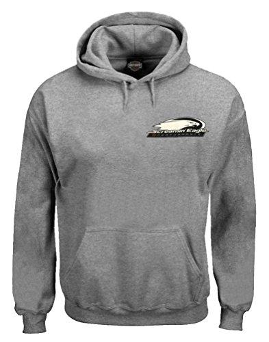 HARLEY-DAVIDSON Men's Screamin' Eagle Hooded Pullover Sweatshirt, Gray (2XL)