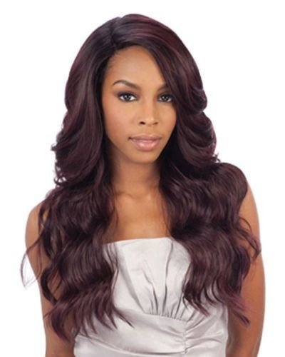 DANITY(4 Medium Brown) - FREETRESS EQUAL DEEP INVISIBLE 'L' PART LACE FRONT WIG