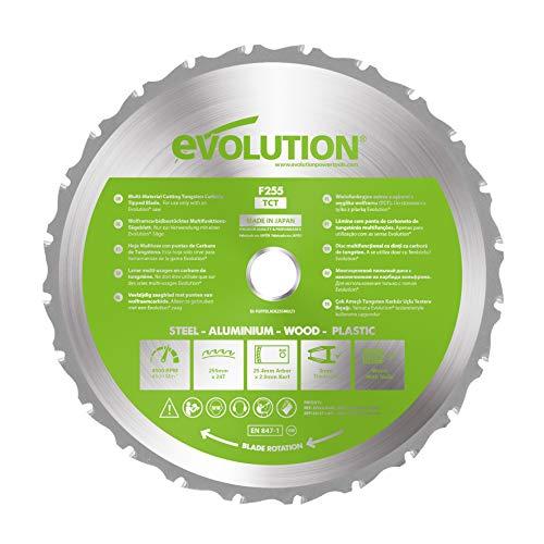 Evolution Power Tools - Hoja de sierra multiuso con punta de acero de carburo FURY,...