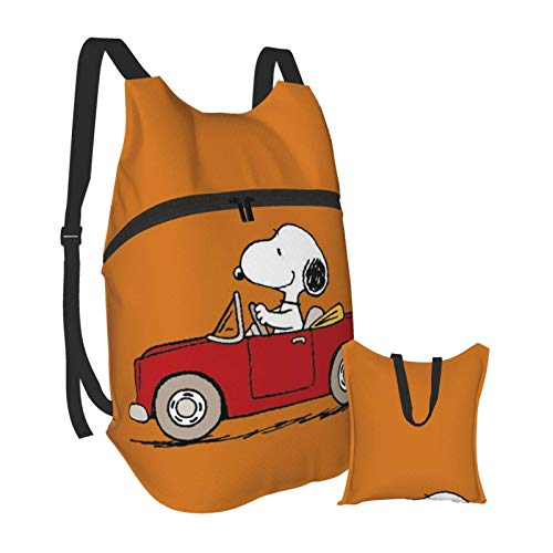 Snoopy Anime Cartoon Folding Portable Backpack Lightweight Packable Backpacks Travel Hiking Daypack Water Resistant Camping Outdoor Foldable for Men Women Travel Hiking Waterproof Backpack