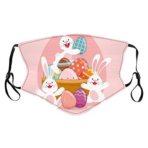 Pañuelo transpirable con diseño de Pascua para adultos lavable con estampado floral