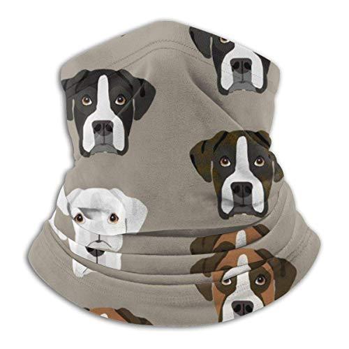 Cathycathy Boxer Dogs Boxer Heads Neck Warmer Guêtre Bandana Head Wrap Scarf Headwear Balaclava