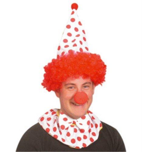 Clown Instant Kit - cheveux, chapeau, Nose, col, cravate [Jouet]