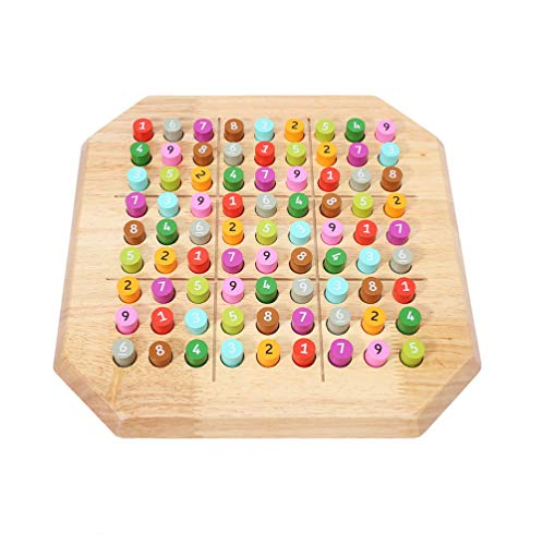 Zest Sudoku Puzzle, Wooden Sudoku Puzzle Board Game Large Family Game- Math Brain Teaser Desktop Game