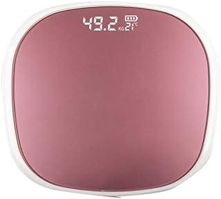 Básculas de baño digitales de peso corporal de alta precisión Báscula de pesaje con tecnología Step-On, cinta de medición corporal incluida, 180 kg, pantalla retroiluminada,Usb