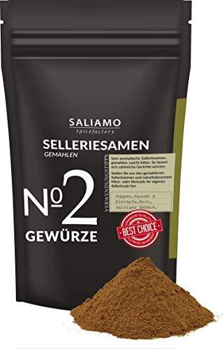 Selleriesamen gemahlen 100 g, Selleriesaat, Selleriesalz, Suppengewürz, zu Eintöpfen, als Brotgewürz, für Kohlgerichte, für Tomatensoße | Saliamo