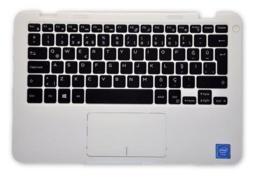 Dell Inspiron 11 3000 (3162) weiße Handauflage Türkische Tastatur RV8J2 19PMV