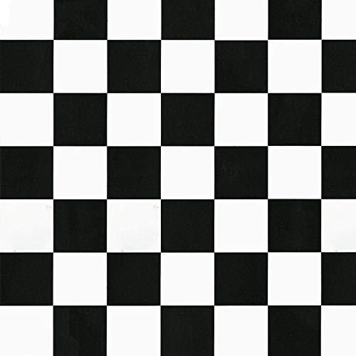 d-c-fix Klebefolie Bastelfolie Dekorationsfolie Designfolie Monza Schwarz-Weiß 45 x 200 cm - 6 0356 - Dekorieren Basteln Schmücken