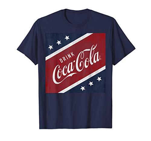 Coca-Cola Stars and Stripes Square Graphic T-Shirt
