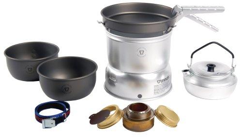 Trangia 27 Harteloxiertes Kochset mit Wasserkessel und Spiritus-Brenner