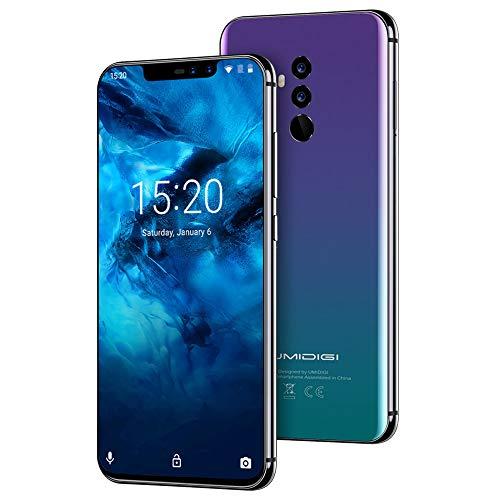 """UMIDIGI Z2 Pro, Smartphone da 6.2"""" Dual SIM 4G Android 8.1, Helio P60 Octa-Core, 6GB+128GB, Quad Camera 16MP+8MP, Face Unlock, NFC, Caricatore Wireless da 15W Compatibili con Lo Standard Qi- Twilight"""