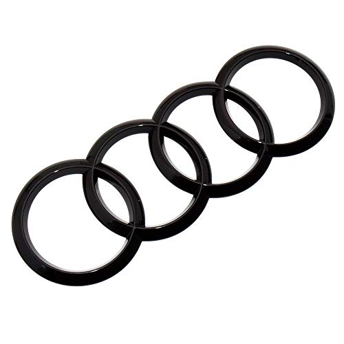 US85 Direct Universal for Audi Sport 3D Trunk Ring Luggage Lid Adhesive Logo Sign Fit A3 S3 RS3 A4 A5 S4 S5 RS5 Emblem Badge Sticker Decoration Quattro Accessories (Gloss Black)
