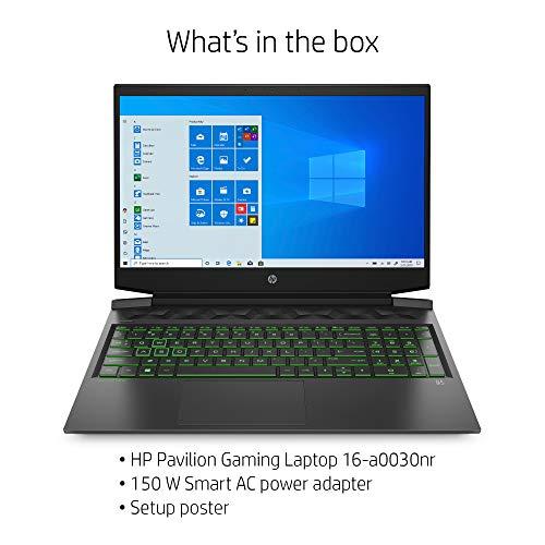 "Product Image 1: HP Pavilion Gaming 16 Laptop PC, NVIDIA GeForce GTX 1660 Ti Max-Q, Intel Core i7-10750H, 16GB DDR4 RAM, 512GB PCIe NVMe SSD, 16.1"" Full HD, Windows 10 Home, Backlit Keyboard (16-a0030nr, 2020 Model)"