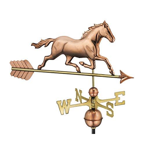 Good Richtungen Trabendes Pferd Wetterfahne, reines Kupfer