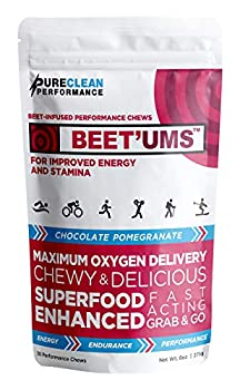 BEET UMS - Heart Health & Performance Chews | Real Chocolate 3.25g  Fermented BioBeets Patented Mango & Cocoa Flavanols  Physician-Formulated Clinically Proven  30 Count  – PureClean Performance
