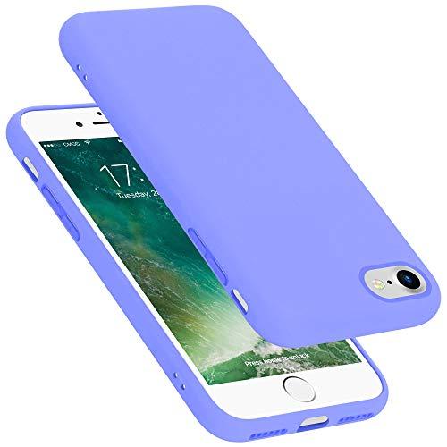 Cadorabo Funda para Apple iPhone 7 / 7S / 8 / SE 2020 en Liquid Lila Claro - Cubierta Proteccíon de Silicona TPU Delgada e Flexible con Antichoque - Gel Case Cover Carcasa Ligera